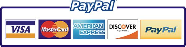 Paypal - Visa - MasterCard - American Express
